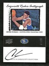 2013-14 Exquistie LeBron James 03-04 Tribute Rookie Autograph DENIS RODMAN #7/35