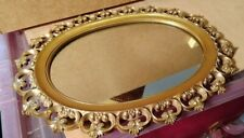 Beautiful Syroco Vintage Rococo Style Mirror 18 Inches by 14 Inches    KK Shelf
