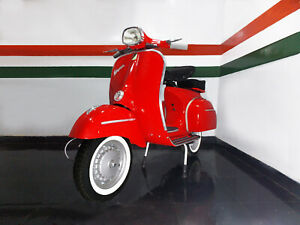 "VESPA 1966 classic vintage motor scooter flawlessly restored ""Original Red"""