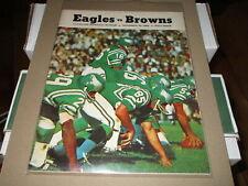 1968 NOV 24 PHILADELPHIA EAGLES VS CLEVELAND BROWNS FOOTBALL PROGRAM