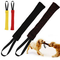 K9 Dogs Puppy Bite Tug Toy w/ Handle Durable Training Chew Play Bite Suit Fabric