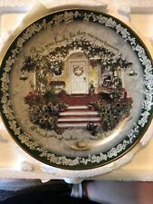 """Cherish your Family Bradford Exchange 1997 Welcome Home series 8"""" Excellent Cond"""