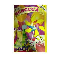 Tarjeta de cumpleaños musical genérico canta nome REBECCA y FELIZ En TE