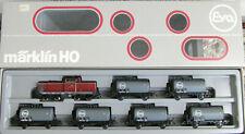"""Märklin H0 2855  Kesselwagenzug-Set """"Eva"""", m. Lok BR212, TOP OVP geprüft #2416"""