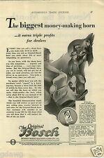 1927 PAPER AD Bosch Car Auto Automobile Horn Magneto Company Co