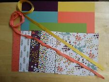 Stampin Up WILDFLOWER FIELDS 6 x 6 Designer Paper Card Kit Ribbon