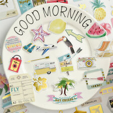 72pcs travel cardstock die cuts for scrapbooking happy planner/card making  X