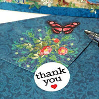 500 Labels/roll thank you Stickers seal labels stickers stationery sticker~JPZY
