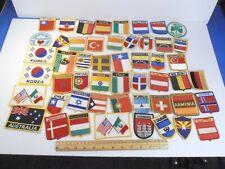 VINTAGE INTERNATIONAL FOREIGN COUNTRIES *50 CLOTH SOUVENIR PATCH PATCHES LOT*