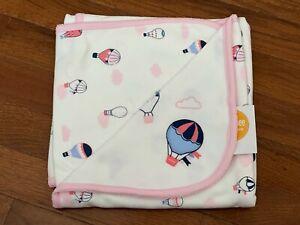 NWT Gymboree Hot Air Balloon Jersey Knit Receiving Blanket