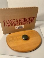 Longaberger CHRISTMAS 1998 GLAD TIDINGS BASKET WoodCrafts LID with GREEN KNOB