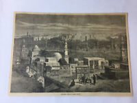 1877 magazine engraving - GENERAL VIEW OF CAIRO, EGYPT