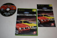 Ford Mustang The Legend Lives Microsoft Xbox Video Game Complete