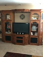 solis oak entertainment center
