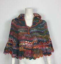 Coprispalle mantella poncho maglione maglia lana artigianale donna usato T4270