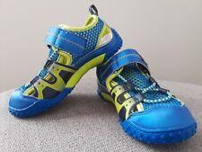 Tsukihoshi Ibiza Kids Size 10.5 Blue/Lime Water Pool Hiking Summer Sandals Shoes