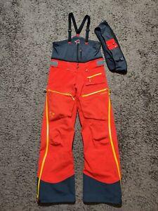 Norrona Lofoten Men's Bib Gore Tex Pro Pants - Size L - Tasty Red arcteryx