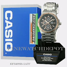 Authentic Casio Edifice Men's Casual Watch EF-340SB-1A5VCF
