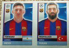 FCB16 17 Lionel Messi Turan BARCELONA 2016/2017 Topps Champions League stickers