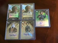 2018 Topps Finest Star Wars Autographs 5 card assorted auto set fill/resale lot