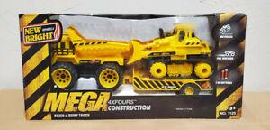 New Mega Toy Truck New Bright 4x Construction Loader Dozer Gravel Motorized