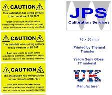 Electrical Labels - 50 Electrical Caution Labels  76 x 50mm JPSLABEL4