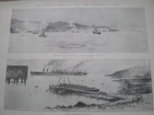 Spanish American War invasion Cuba US troops land baiquiri 1898 old prints