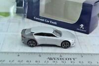 Norev Peugeot Concept Car Exalt Silver Metal 1/64 Scale