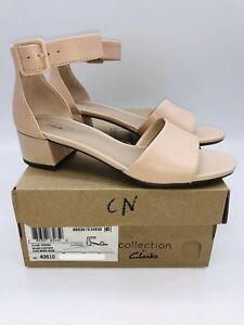 Clarks Collection Women's Elisa Dedra Dress Sandals Blush Leather , choose size