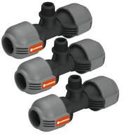 "3x GARDENA T- Stück Sprinkler-System Quick & Easy Verbindung 1/2"" -> 25mm"