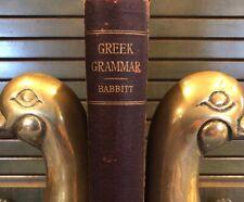 (Greek)Grammar of Attic and Ionic Greek by Frank Cole Babbitt Hc Book 1902 First