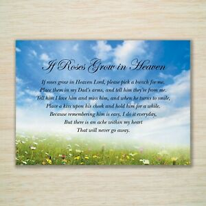 Dad Memorial Grave Card Birthday Anniversary Fully Waterproof Eco A5 & Freepost