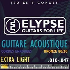 Elypse - Cordes pour guitare folk - AS-571C - Jeu standard 10 - 47 extralight