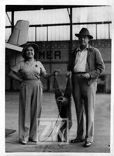 MARTIN Osa JOHNSON Afrique Paris Bourget Explorateur Animalier SINGE Photo 1934