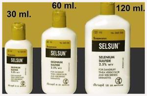 3x30/2x60/1x120ml of Selsun Selenium Iron sulphide 2.5% Anti Dandryff Shamphoo