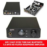 HIFI Bluetooth Headphone Amplifier 12AU7 ECC82 Tube DAC 5.0 APTX-HD Player