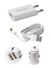 Kit caricabatterie per iphone 5 5s 5c 6 6s plus ipad mini con cavo usb casa auto