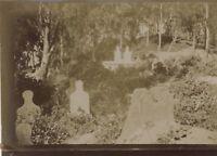 Snapshot Cimitero musulmano Fotografia Originale Vintage Citrato ca 1900 ND50