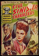 Avon Murder Mystery Monthly #28 1945 PBO 5 SINISTER CHARACTERS Raymond Chandler