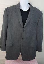 CALVIN KLEIN Jacket Blazer NEW Gray Blue Wool Men's Sport Coat 46L Fully Lined