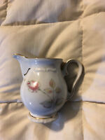 BAVARIA GERMANY WINTERLING WHITE FINE PORCELAIN FLORAL ROSE CREAMER PITCHER