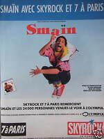 PUBLICITÉ 1989 SMAÏN AVEC SKYROCK ET 7 A PARIS - ADVERTISING