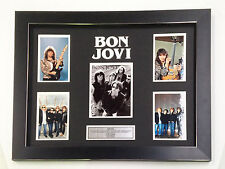 BON JOVI PROFESSIONALLY FRAMED,  TOP QUALITY PHOTO COLLAGE WITH PLAQUE