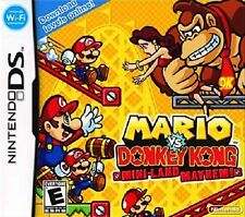 Mario Vs. Donkey Kong Mini Land Mayhem! Nintendo DS Great Condition Complete