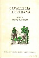 Mascagni: Cavalleria Rusticana - Heft Sonzogno