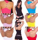 TOP SEXY HAUT DOS NU DÉBARDEUR T-SHIRT ÉTÉ ANNEAUX FEMME T.M/L 40/42 UK 12-14