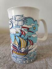 "Vintage Christmas MUG -1983 "" I Saw Three Ships...""  Dunoon Ceramics"