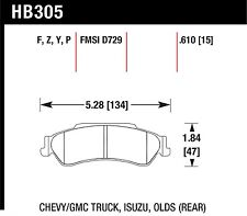 Hawk Performance HB334P.705 Front Severe Duty Brake Pads