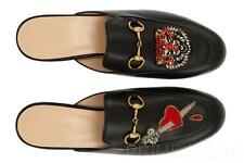 NEW GUCCI PRINCETOWN BLACK LEATHER HORSEBIT SLIPPER LOAFERS SHOES 39/US 9