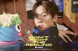 [BAEKHYUN] DON'T FIGHT THE FEELING OFFICIAL UNFOLDED POSTER ROLLED IN TUBE CASE